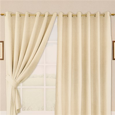 Suzy Faux Suede Ring Top Curtain (46 inches x)