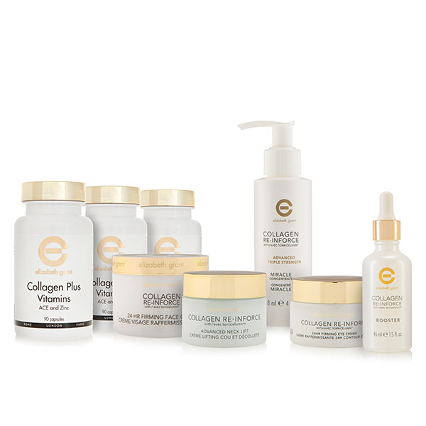 Elizabeth Grant Supercharged Collagen Re-Inforce Firming Collection and 3 x Collagen Plus Vitamins (1 x 90 capsules)