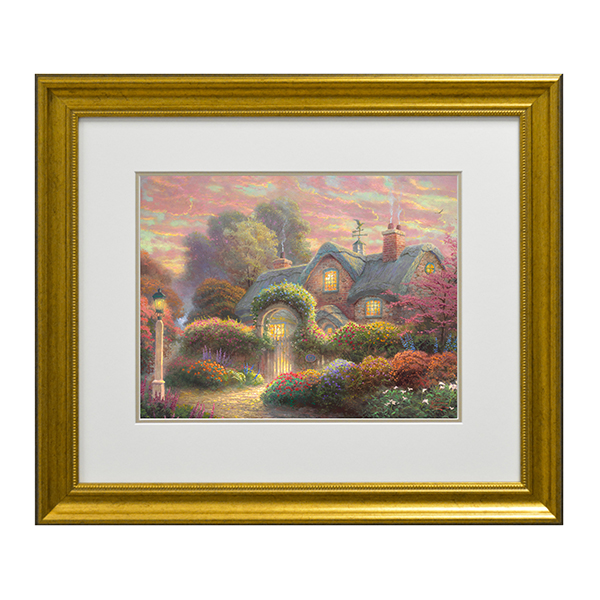 Thomas Kinkade Rosebud Cottage Open Edition Print Traditional