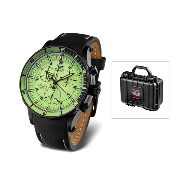 Vostok Europe Gents Anchar  Chronograph Black/Green