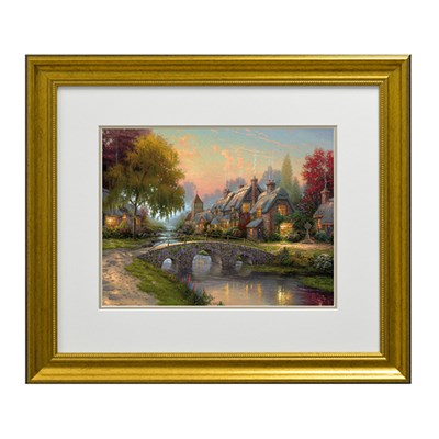 Thomas Kinkade Cobblestone Bridge Open Edition Print