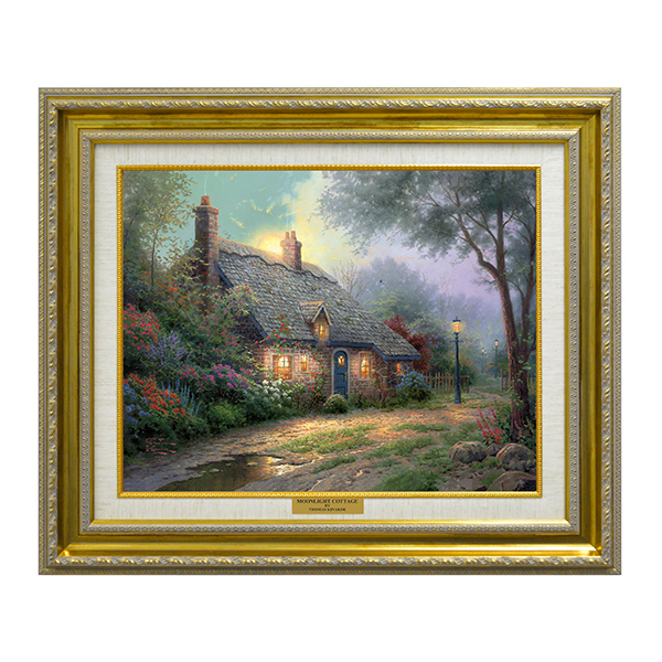 Thomas Kinkade Moonlight Cottage Open Edition Canvas No Colour