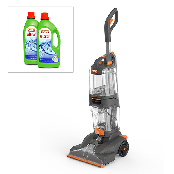 Vax Dual Power Pro Carpet Cleaner with Two 1.5L Vax Ultra Carpet Cleaning Formula 400981