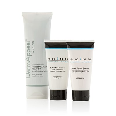 Skinn Supersize Dermappeal Microdermabrasion Treatment 113ml with Bonus Travel AM and PM Cleansers