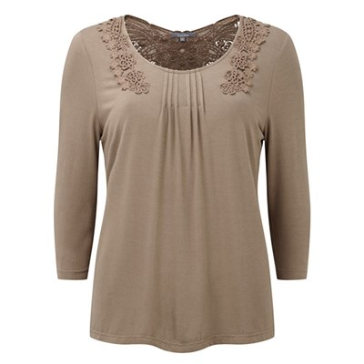 Lavitta Gupuire Lace Back 3/4 Sleeve Top 26in