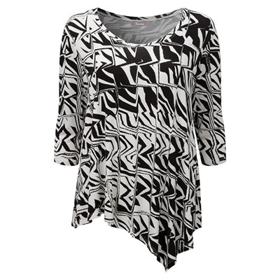 Lavitta Aysmmetric tribal grid top 25in