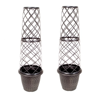 Pair of 1.3m Tower Pots