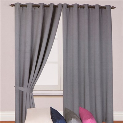 Woven (46 inches x) Blackout Ring Top Curtains