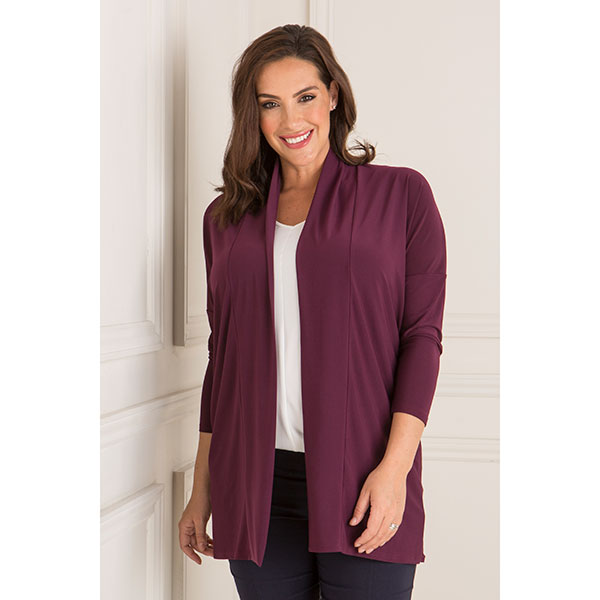 Styled By Edge To Edge Jacket Plum