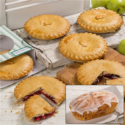 Lime Tree Pantry 6 x 7 Inch Fruit Pies and a Free Cake Loaf