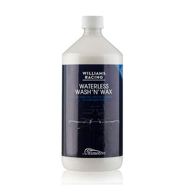 Williams Racing Waterless Wash 'N' Wax Car Cleaner - 1 Litre (no trigger) No Colour