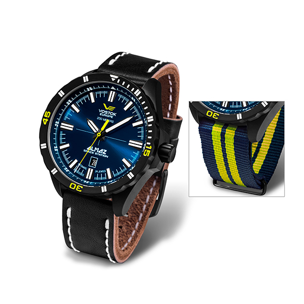 Vostok Europe Gents Automatic Almaz Watch with Interchangeable Straps Black