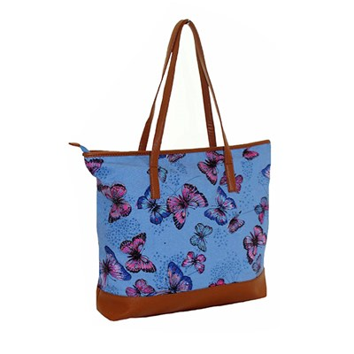 Butterfly Print Canvas Bag