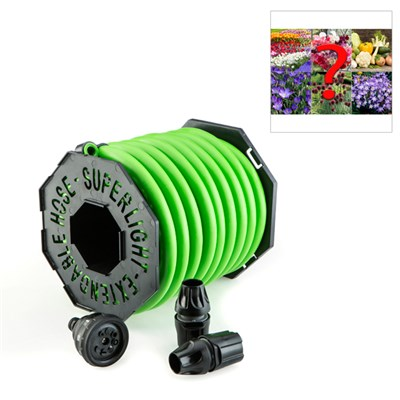 Magic Hose 25m with Nozzle and Fittings with FREE Mystery Bulb Collection