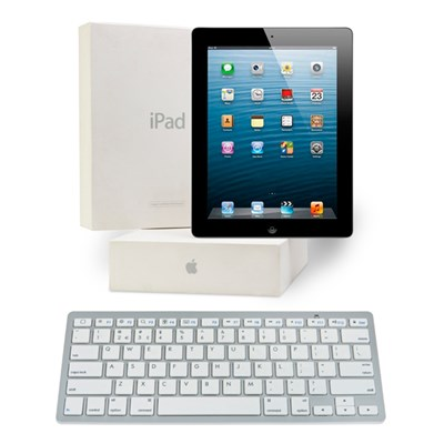 Apple iPad 3 64GB Wi-Fi and 3G with Retina Display (Apple Certified Refurbished with One Year Warranty) plus Bluetooth Keyboard