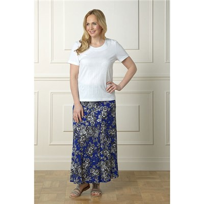 Lavitta Mono floral maxi skirt 35in