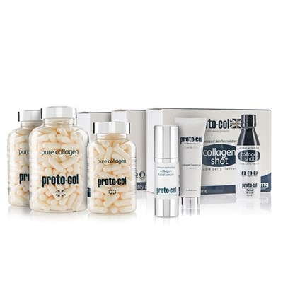 Protocol 180 day 3 x shots, 2 x collagen 240, 1 x collagen 120, 1 x 30ml Serum and 1 x 20ml Facemask