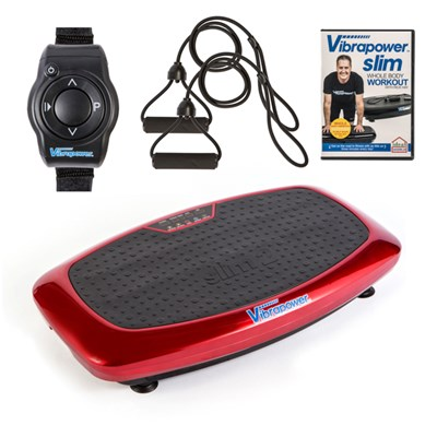 Vibrapower Slim 2 with Resistance Bands with Remote Control Watch plus FREE Vibrapower Slim Whole Body Workout DVD Vol 1