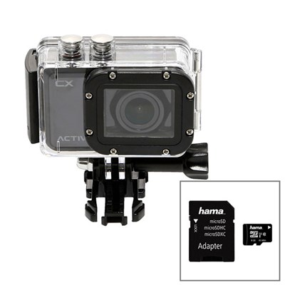 Activeon CX HD Pocket Action Camera with Waterproof Case and 8GB Micro SD Card