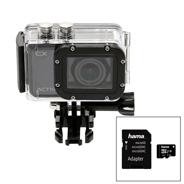 Activeon CX HD Pocket Action Camera with Waterproof Case and 8GB Micro SD Card No Colour