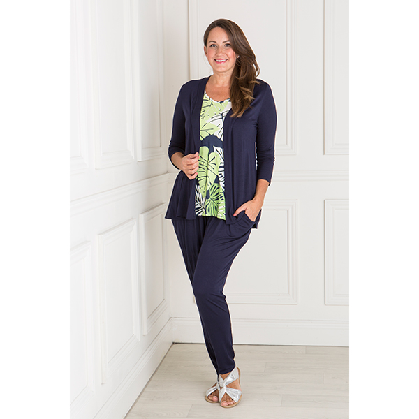 Nicole Three Piece Trouser Set Navy