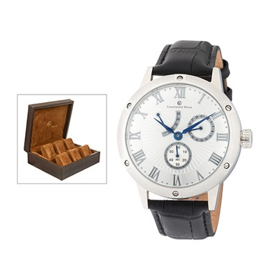 Constantin Weisz Automatic Gent's Watch with FREE 6 Slot Box