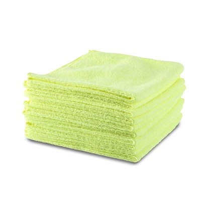 10 x Premium Microfibre Cloths choose from Yellow or Grey