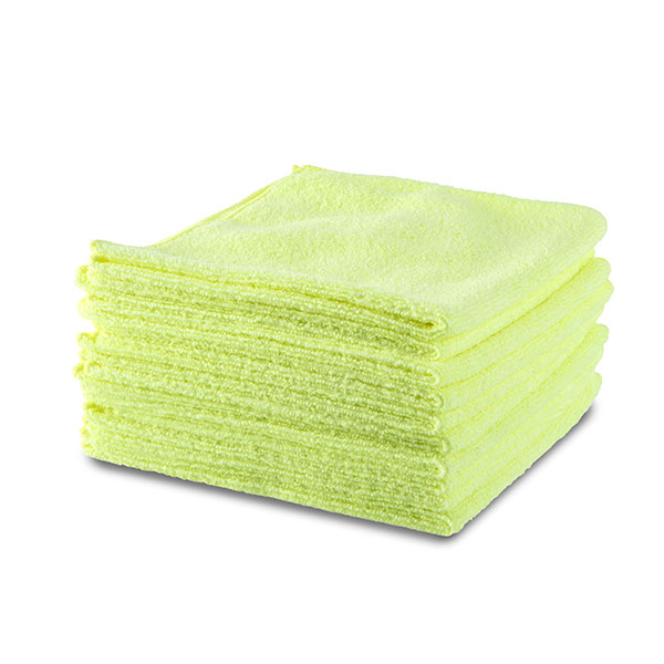 10 x Premium Microfibre Cloths choose from Yellow or Grey Yellow