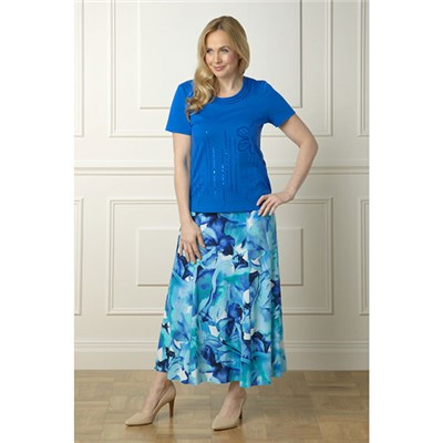 Lavitta Floral Maxi Skirt 35in