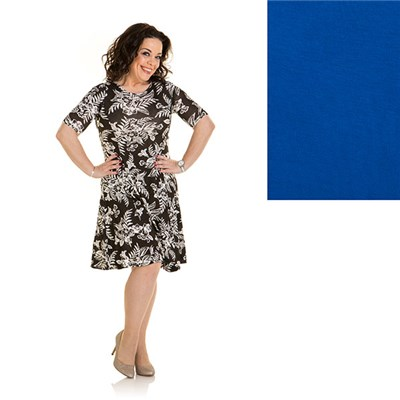 Just Be You 2 Pack Print And Plain Fit And Flare Dress