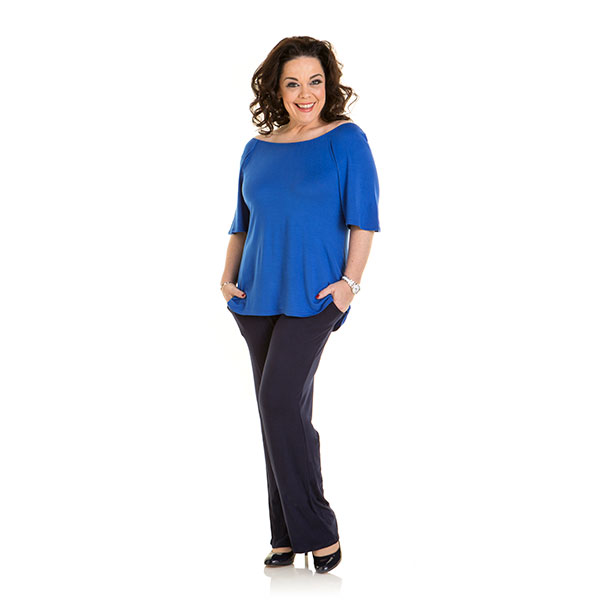 Just Be You Off The Shoulder Top Cobalt