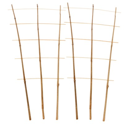 Pair of 85cm Tall Bamboo Support Trellis