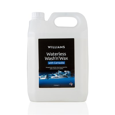 Williams Racing Waterless Wash 'N' Wax 5 Litre Refill Jerry Can with Trigger