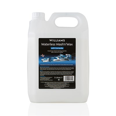 Williams Racing Waterless Wash 'N' Wax 5L Refill Jerry Can with Trigger