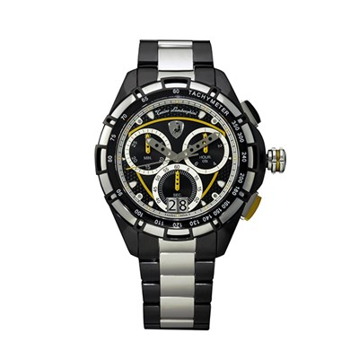 Tonino Lamborghini Gent's TL9060 Swiss Quartz Chronograph Watch with Stainless Steel Bracelet