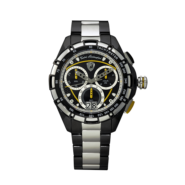Tonino Lamborghini Gent's TL9060 Swiss Quartz Chronograph Watch with Stainless Steel Bracelet Yellow