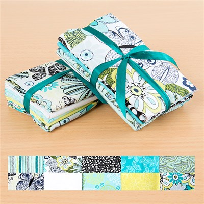 Lanoma White and Yellow 100 Percent Cotton Fat Quarters Multibuy