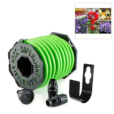 Magic Hose 40m with Hook, Nozzle & Fittings + FREE Mystery Bulb Collection