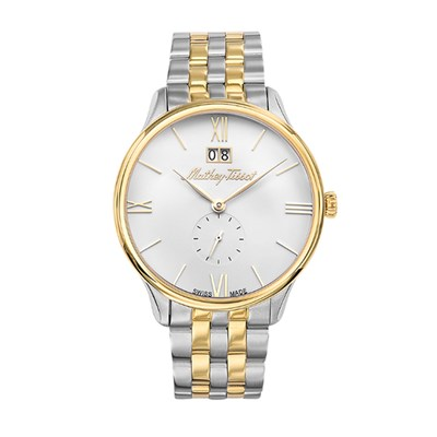 Mathey-Tissot Gent's Edmond Watch with Two Tone Stainless Steel Case