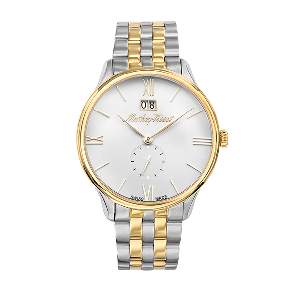 Mathey-Tissot Gent's Edmond Watch with Two Tone Stainless Steel Case Silver / Gold