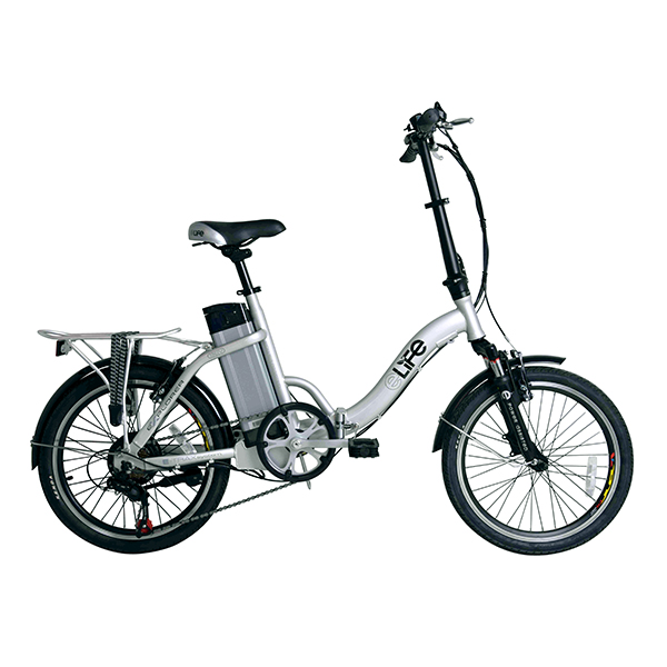 Elife Explorer Electric Folding Bike Silver