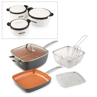 Cookshop Copperglaze 6 in 1 Pan with Acc
