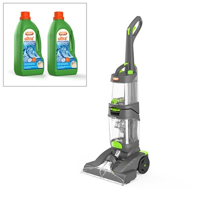 Vax Dual Power Pro Advance Carpet Cleaner with Vax Ultra+ 2 x 1.5L (3L Total) Carpet Cleaning Formula