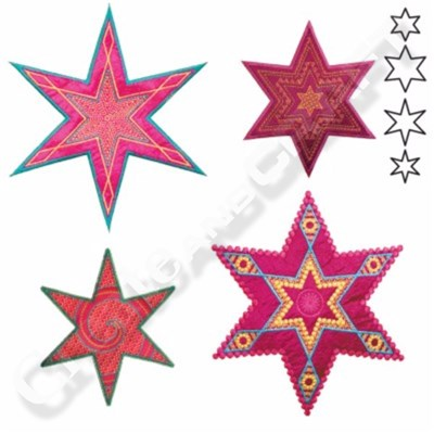 AccuQuilt GO Star Medley-6 Point by Sarah Vedeler