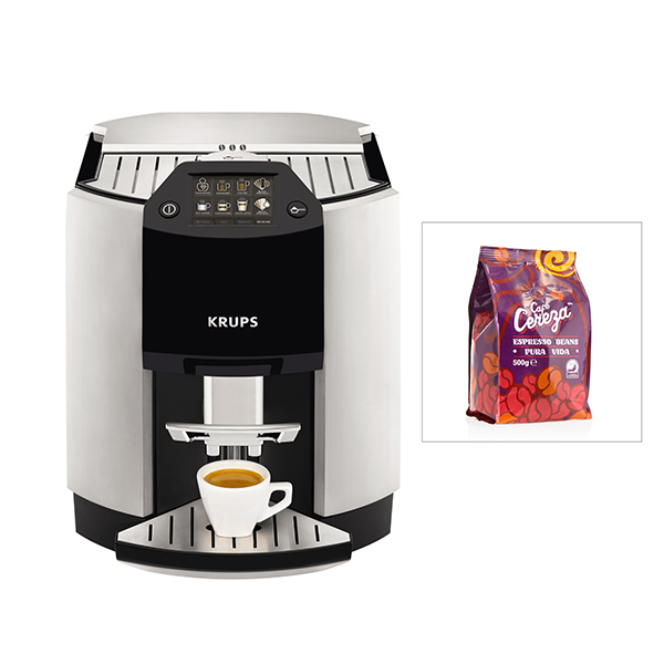 KRUPS Espresseria Bean to Cup Coffee Machine (FREE Coffee Beans) 403585