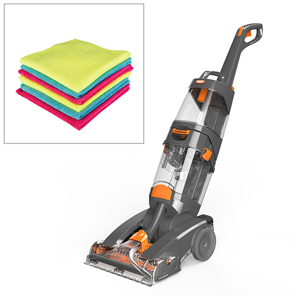 Vax Dual Power Max Carpet Washer with Upholstery Tool, 250ml Detergent and FREE 6 x Microfibre Cloths No Colour