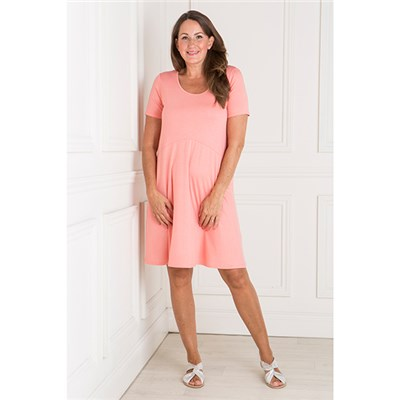 Daisy Eldridge Short Sleeve Jersey Flared Dress