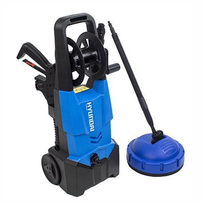 Hyundai 1900W Pressure Washer with 5m Hose, 2 Brush Attachments, Turbo and Vario Nozzles, Patio Cleaner, High Pressure Lance and Foam Lance