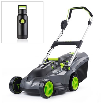 Gtech Mix and Mow Lawnmower with spare lawnmower battery