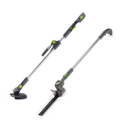 Gtech HT05 Plus extendable hedge trimmer and ST20 grass trimmer
